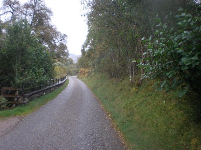 Crash Barrier beside Strath Carnaig River Gorge