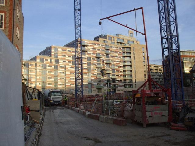 Construction site, Ebury Bridge Rd, London