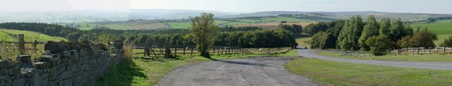 Panorama of the easterly North Pennines AONB
