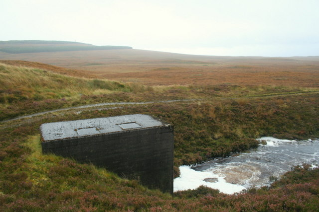 """The """"boxed"""" waterfall west of the Crask"""