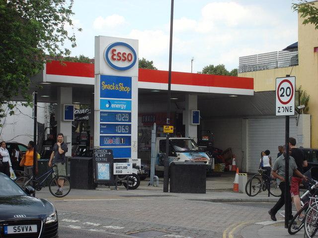 Esso Petrol station, Chalk Farm Road