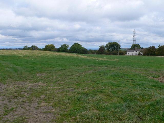 Farmland between Treuddyn and Rhydtalog