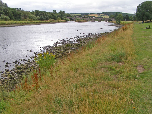 Looking upstream on the River Dee