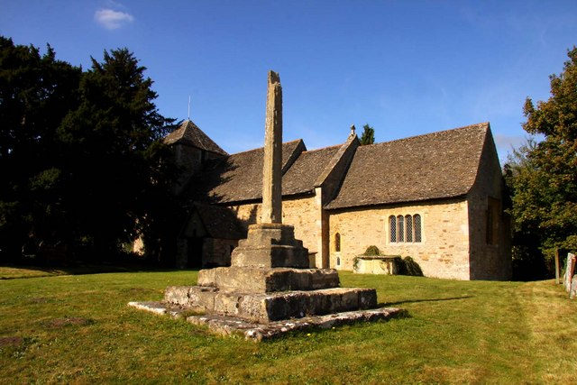 The remains of the cross at St Lawrence Church