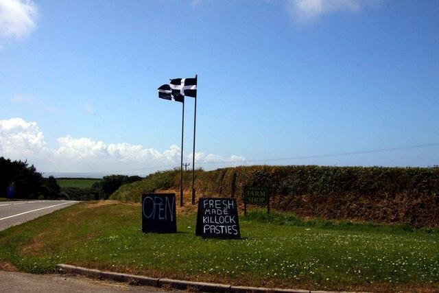 Entrance to Killock Farm Shop from the A39