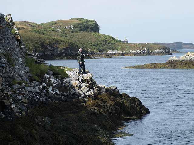 Angler on Loch Sgioport