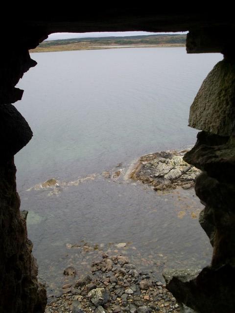 Loch Sween from inside the castle