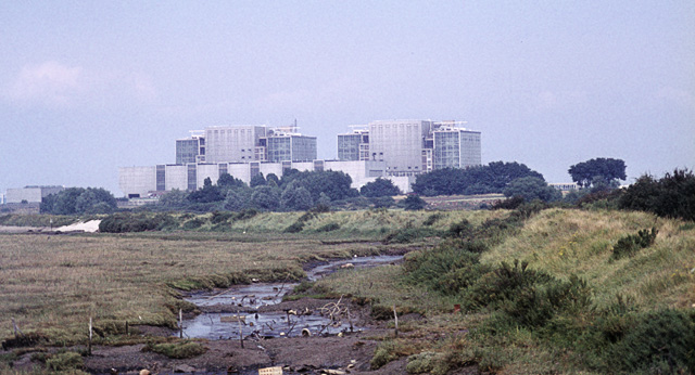 Bradwell power station in the mid-seventies