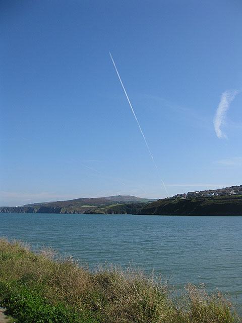 Fishguard harbour from the East breakwater