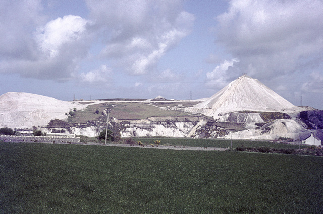 China clay spoil heaps in the eighties