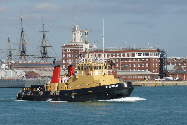 SD.Bustler in Portsmouth Harbour