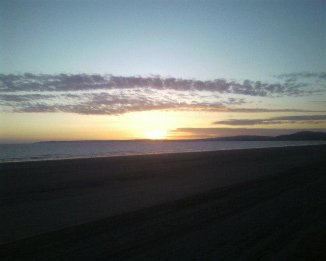 Port Talbot beach across to Mumbles Swansea