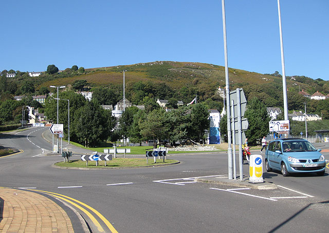The last few metres of the A40, Fishguard
