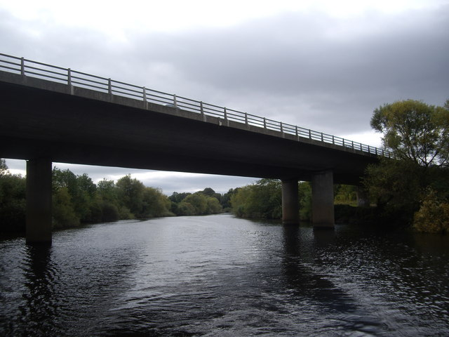 The A64 road bridge over the Ouse