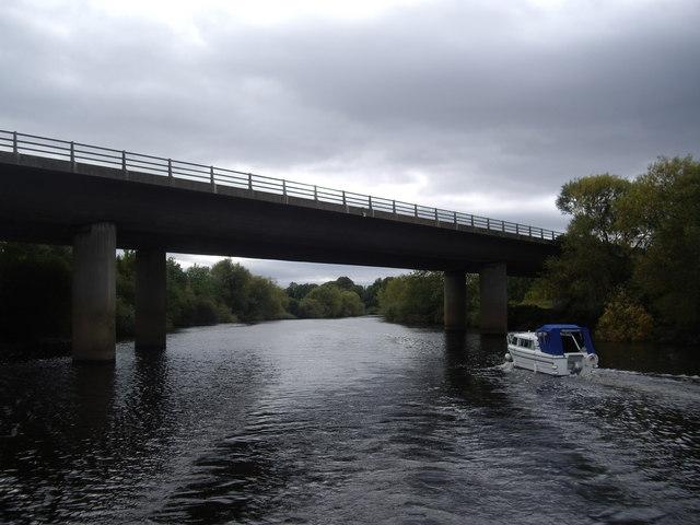 A64 road bridge astern
