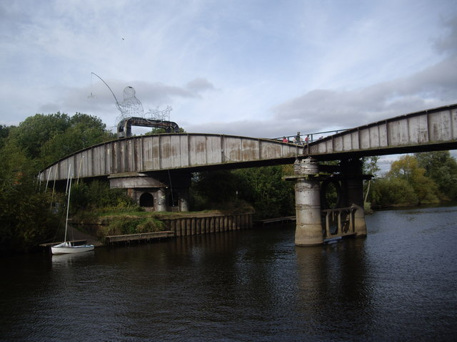 Naburn Bridge with 'The Fisher of Dreams'