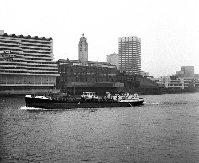 Tanker on the Thames