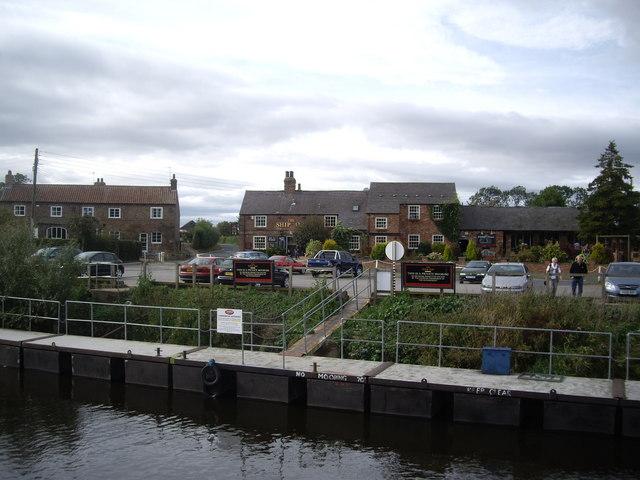 Commercial mooring for The Ship Inn