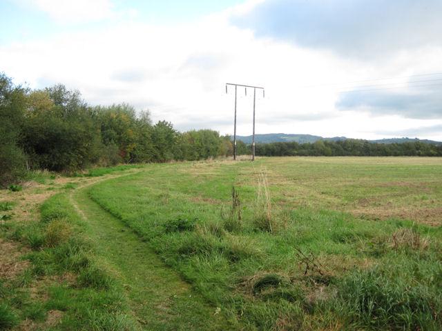 Track to Dolydd Hafren Nature Reserve