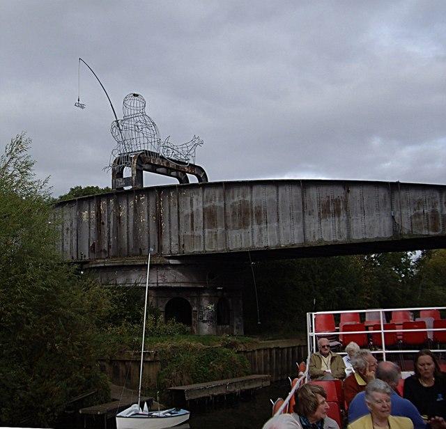 Shooting the old railway bridge at Naburn