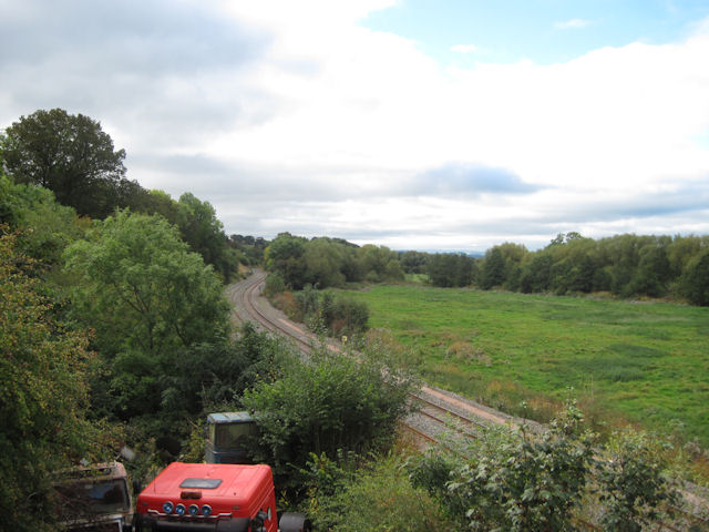 Railway at Cilcewydd