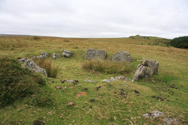 Hut circle near Frenchbeer Rock