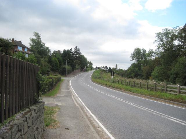 A490 up through Cilcewydd
