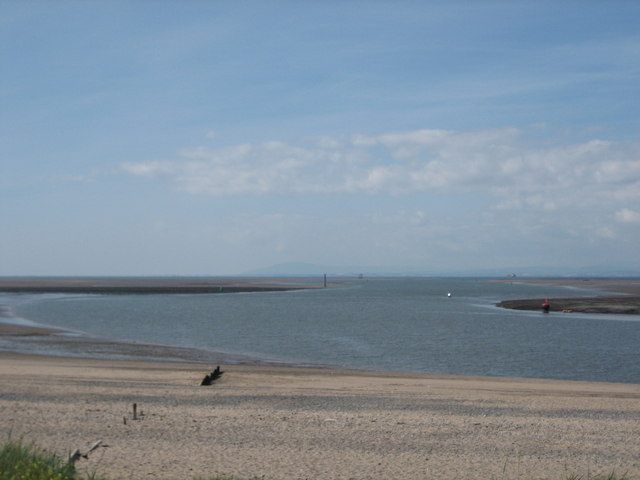 The River Wyre emptying into Morecambe Bay