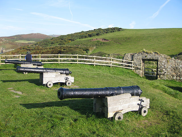 Cannon at Fishguard Fort