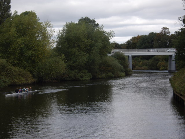 A coxed four on the Ouse