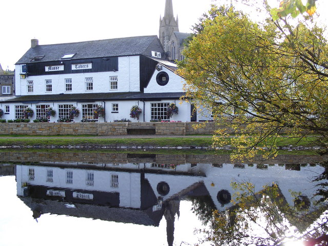 Reflections of The Mosset Tavern at Forres