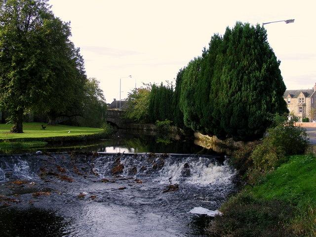 A Weir on the Mosset Burn