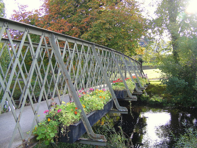 Flowers on the Footbridge at Forres