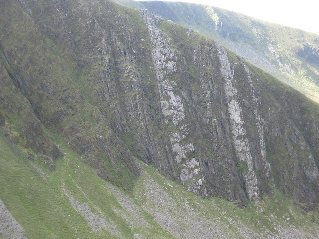 South Buttress and North Buttress on Trum y Ddysgl