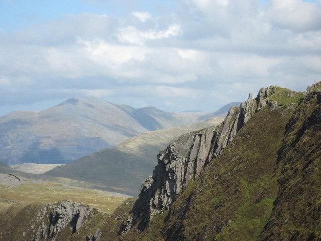 The summit crag of Mynydd Drws-y-coed