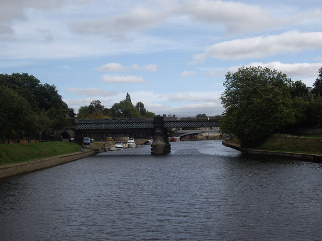 Approach to the Scarborough and Lendal Bridges