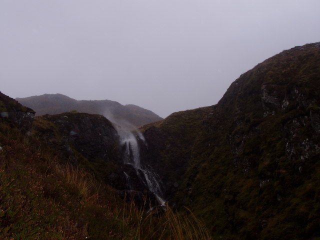 Windspray at waterfall