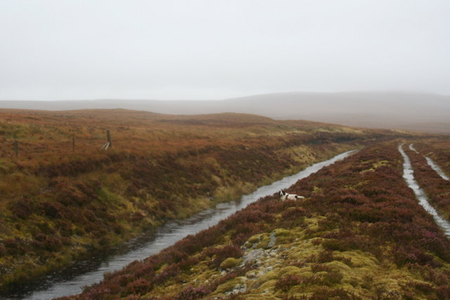 Draining the bog waters to the River Tirry