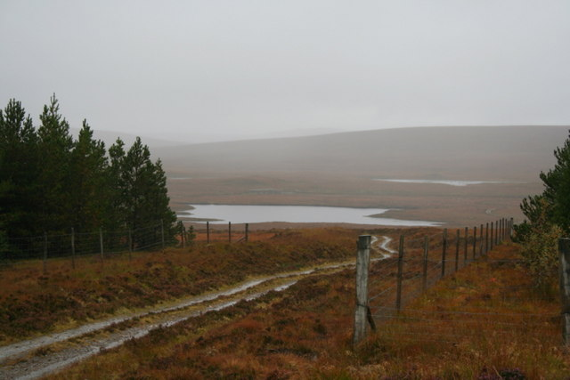 The track to the lochs to the west of the Crask