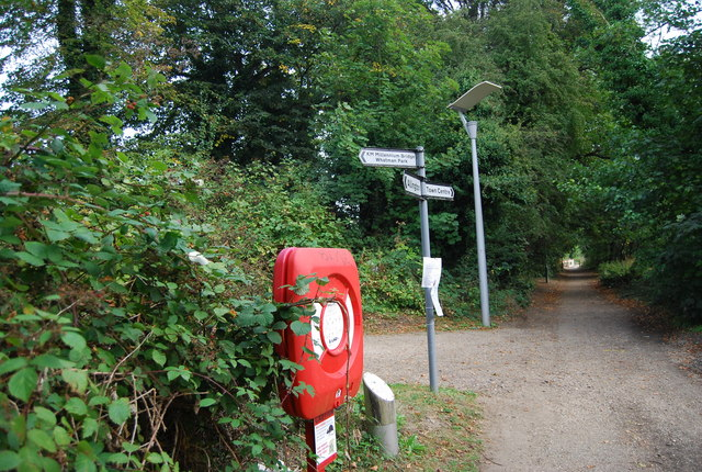 Signposts on the banks of the River Medway