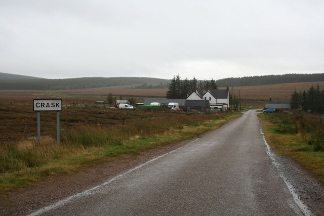 Approaching the  Crask Inn from the north