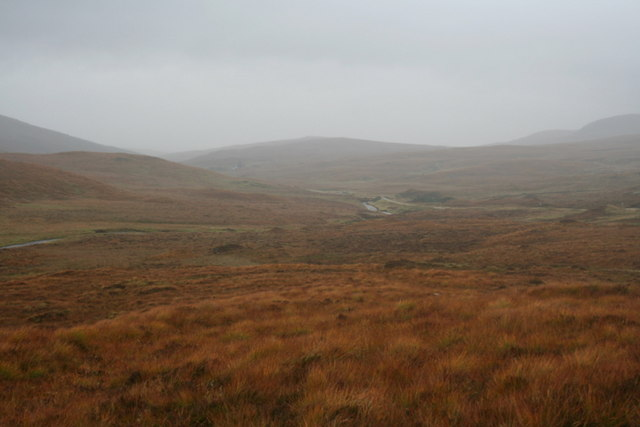 A view up the glen from the Mackay stone