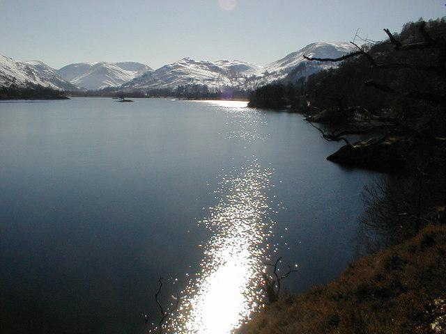 Afternoon sun on Ullswater