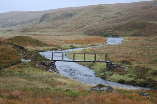 Footbridge over the Vagastie