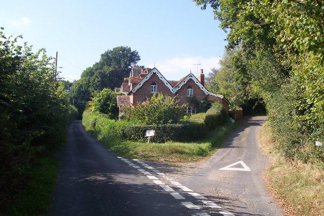 Road junction in Priors Heath