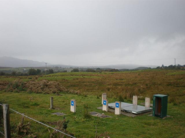 Water access point on moor near Clashcoig