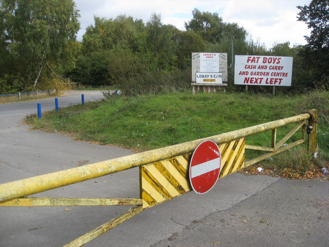 No Entry to the Broughton Industrial Estate