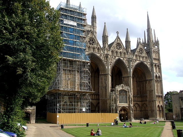 Peterborough Cathedral - with some scaffolding