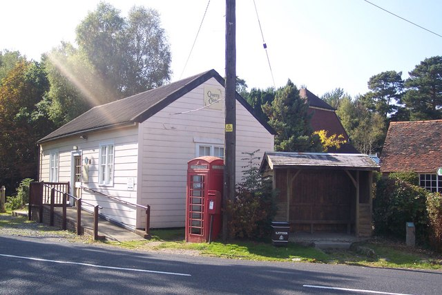 Quarry Centre, Phone Box and Bus Shelter in Kilndown