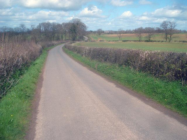 Lane north of Bilfield